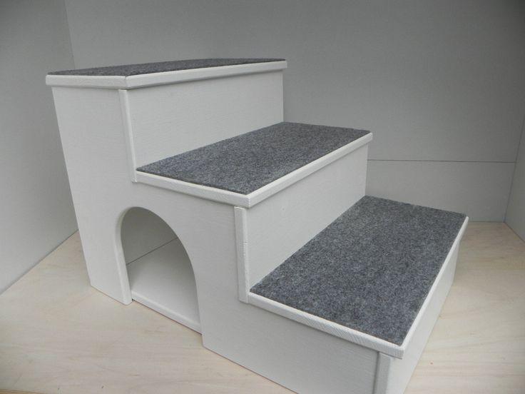 Exclusive Hunde / Katzen Treppe Höhe 60cm mit Kuschelhöhle + Teppich- alle Farb. in Haustierbedarf, Hunde, Transport & Reisen | eBay
