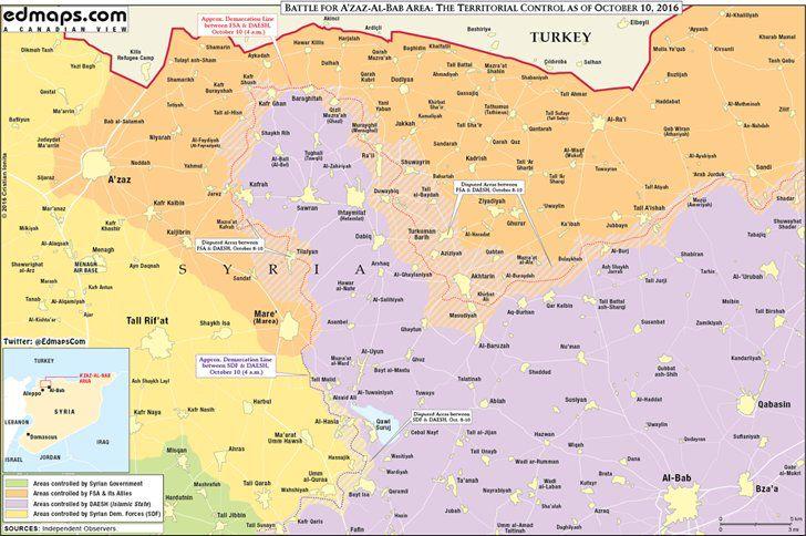 North #Aleppo #Syria #map before #battle #Dabiq October 10 #Azaz #Murayghil #Akhtarin #FSA #ISIS #euphrates_shield edmaps.com/html/syrian_ci…