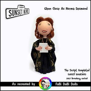 Glen Close the Script Completed sunset Boulevard peg doll from faBi DaBi Dolls