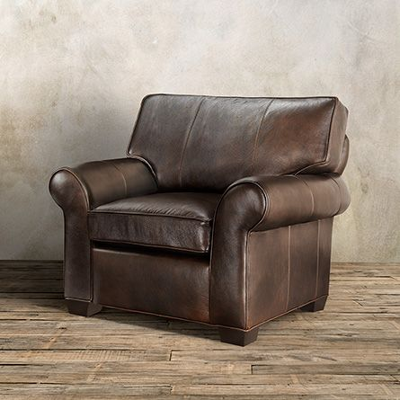 Brentwood Motion Leather Recliner In Matador Walnut