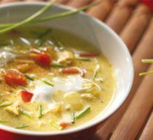 Recette - Soupe asiatique au poulet et au Philadelphia - Notée 4/5 par les internautes