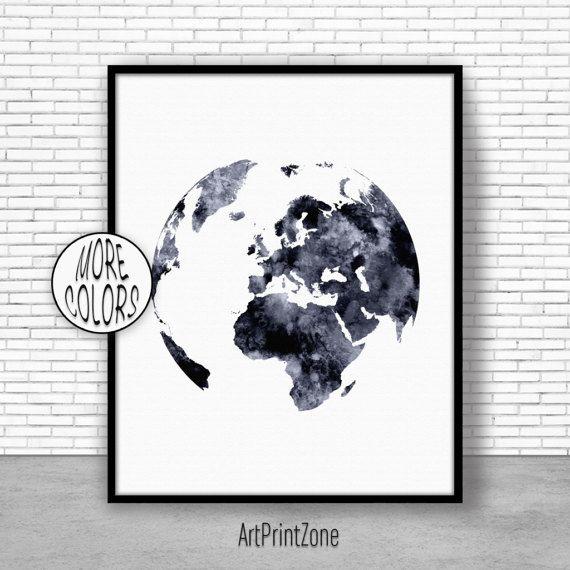 $8.00 Globe Art, Globe Print, Globe Decor, World Print, Europe Map, World Map Poster, World Map Wall Art, World Map Print, World Map Decor #WorldMapWallArt #Globe #WorldMapDecor #WorldMapPoster #GlobeDecor #EuropeMap #GlobePrint #WorldMapPrint #WorldMap #GlobeArt