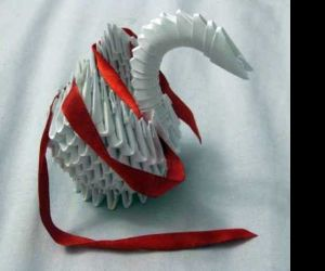 Оригами лебедь из бумаги своими руками — пошаговый мастер-класс с фото