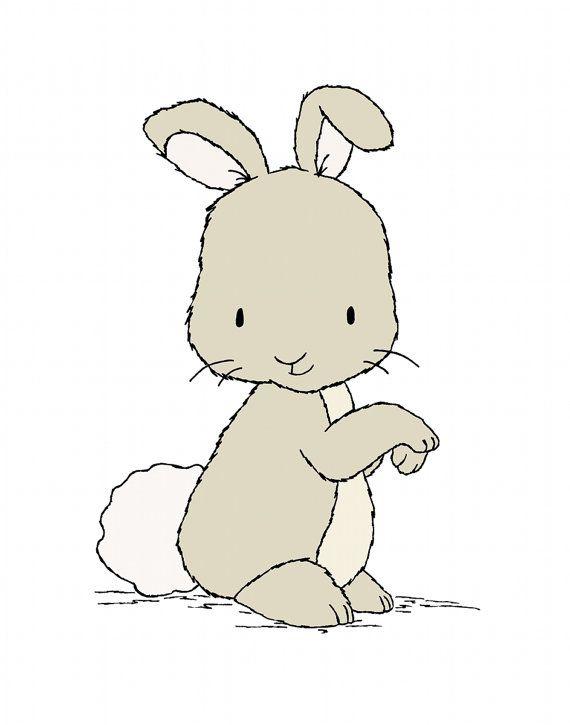 Bunny Nursery Art Little Bunny Woodland por SweetMelodyDesigns