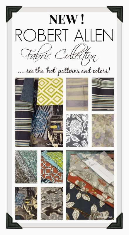 Get color and pattern ideas from the new Robert Allen Spring Fabric Collection- just released! #decor #fabric
