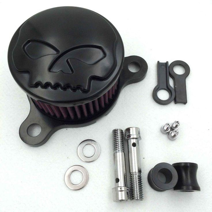 Aftermarket Motorcycle Parts Skull Air Cleaner Intake Filter System Kit For Harley Sportster XL883 XL1200 1988-2015   Black