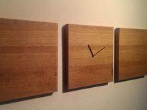 Design Holz Wand Uhr Three Eiche