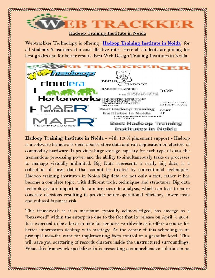 Hadoop training institute in noida