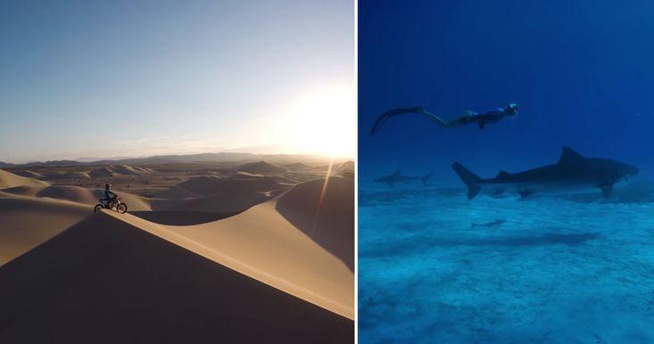 Американская компания GoPro опубликовала видео с лучшими видео, которые были сняты на одноименную экшн-камеру в уходящем году.