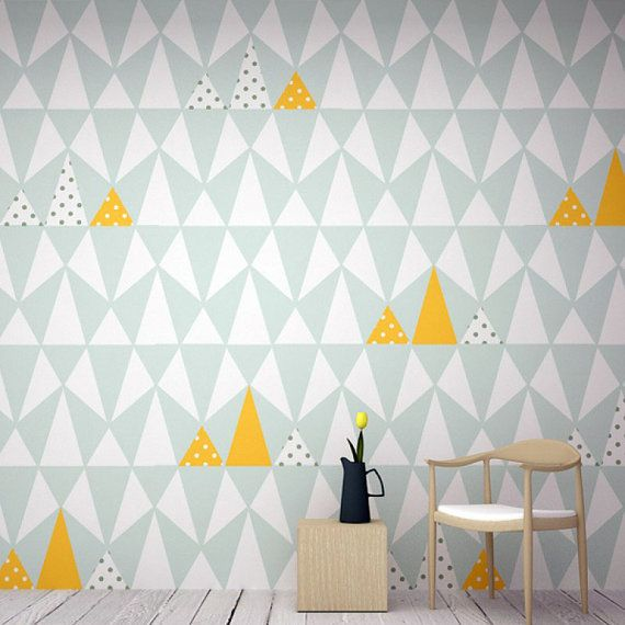 Small and big triangles wallpaper abstract by GreenFatHorses