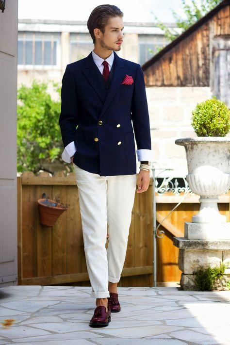 Blazer Chaleco Negro Vestir Azul Cruzado Moda Look De Marino 7qpvwU
