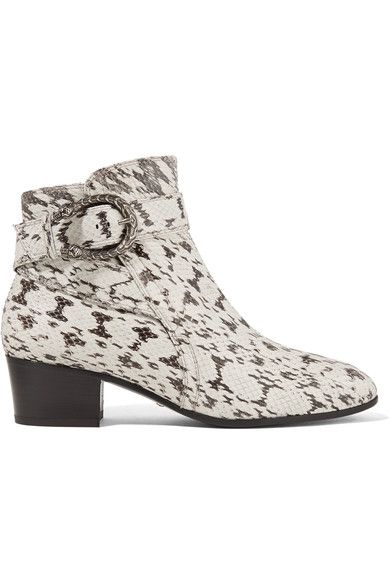 Gucci - Elaphe Ankle Boots - Snake print - IT35.5