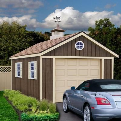 Sierra 12 Ft X 20 Ft Wood Garage Kit With Sturdy Built