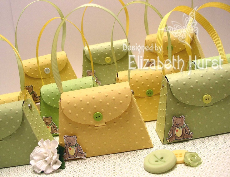 Baby Shower Favor order using the Petite Purse die exclusive to Stampin' Up!