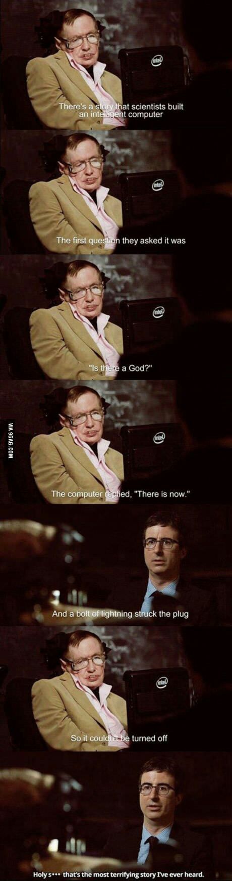 Just Stephen Hawking being Stephen Hawking.