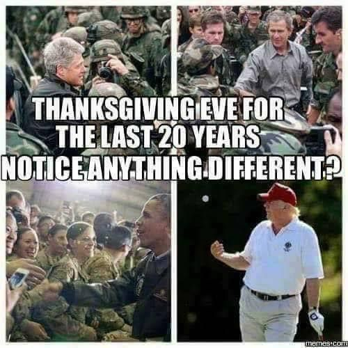 Supports the troops so much he did not want to steal the limelight.
