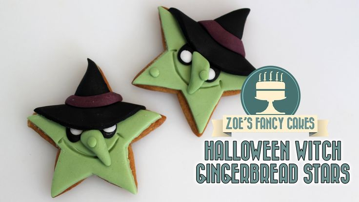 Halloween gingerbread witches