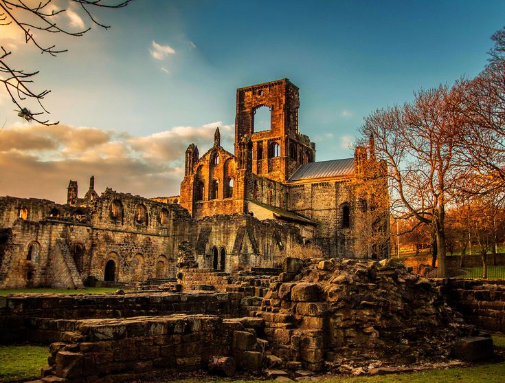 Kirkstall Abbey in the late afternoon sunlight. Credit Minda