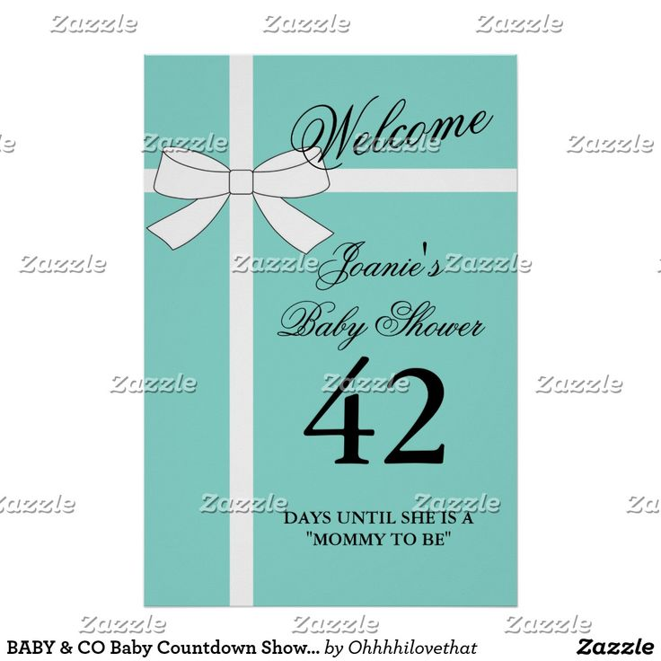 BABY & CO Baby Countdown Shower Party Poster