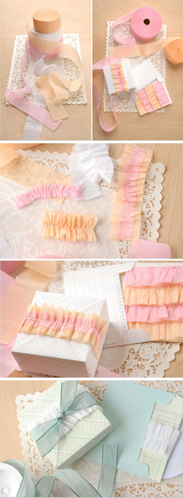 crepe paper, streamer (?)Tissue paper wrap