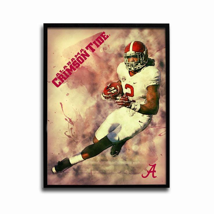 Alabama Crimson Tide Crimson Rush 24x18 Football Poster