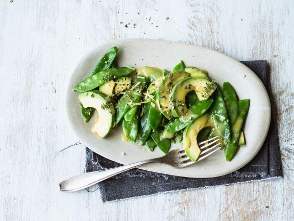 Avocado-Erbsenschoten-Salat ist ein Rezept mit frischen Zutaten aus der Kategorie Fruchtgemüse. Probieren Sie dieses und weitere Rezepte von EAT SMARTER!