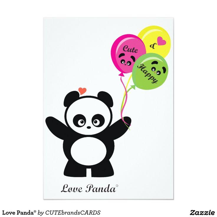 Amor Panda® Convite 12.7 X 17.78cm