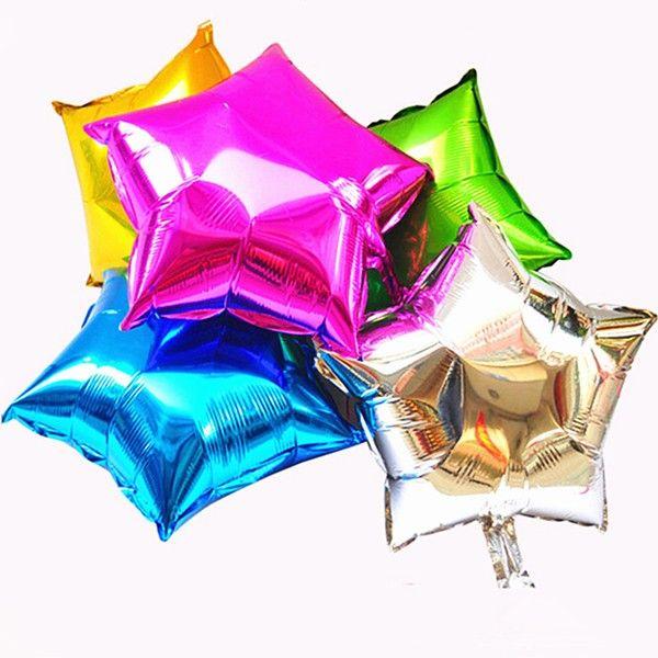 5 шт./лот фольги звезды шар свадьба большой алюминий надувные фольгированные шары гелием шар день рождения ну вечеринку украшения мяч купить на AliExpress