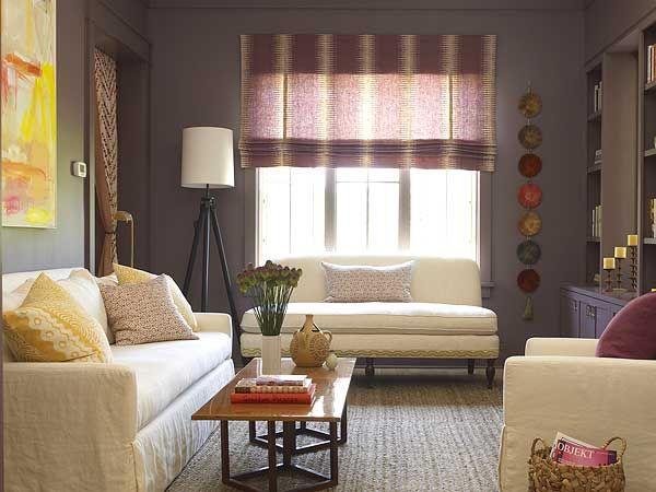 Purple & Grey living room