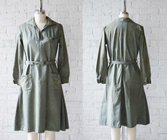 Early 1930s Girl Scout Uniform Dress  Size XS/S  Vintage