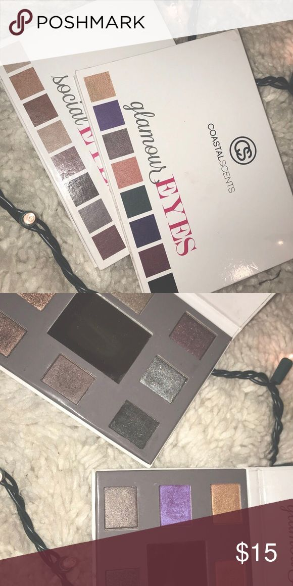 coastal scents eyeshadow palettes i've used them about twice but the colors weren't that flattering on my skin, they've also been sanitized :) coastal scents Makeup Eyeshadow