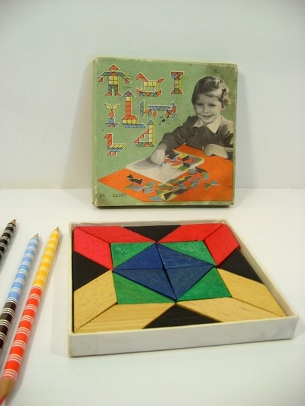 Vintage Made In Czechoslovakia Wood Puzzle