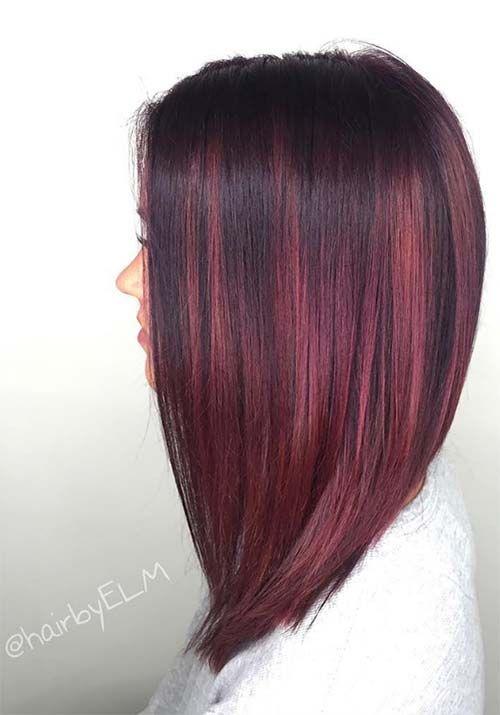 79 Best Hair Images On Pinterest Deep Burgundy Hair Hair Color