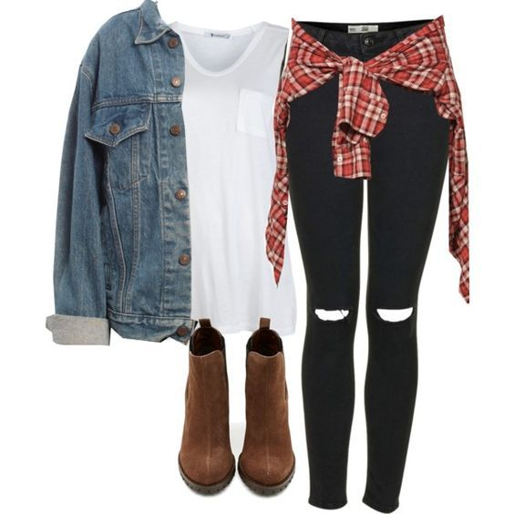 5 cute college outfits with a plaid shirt
