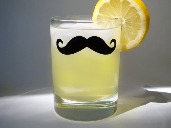 Copious: Moustache Whiskey Glass - Variety of Mustache Styles (set of 4)