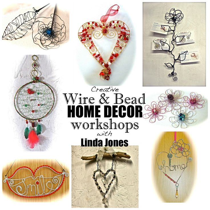 Contact www.wirejewellery.co.uk for details of Home Decor workshops