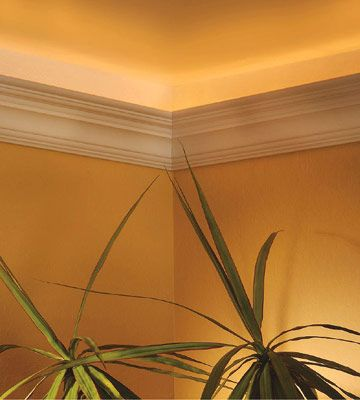 Installing Crown Molding with Uplights - How to Cut & Install Crown Moldings - Carpentry, Woodworking, Finish & Trim. DIY Advice