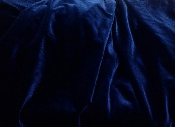 "Navy #Blue #Velvet #Fabric By the Yard, Width 57"", Midnight Blue Velvet Material by CushionsandMore on Etsy"