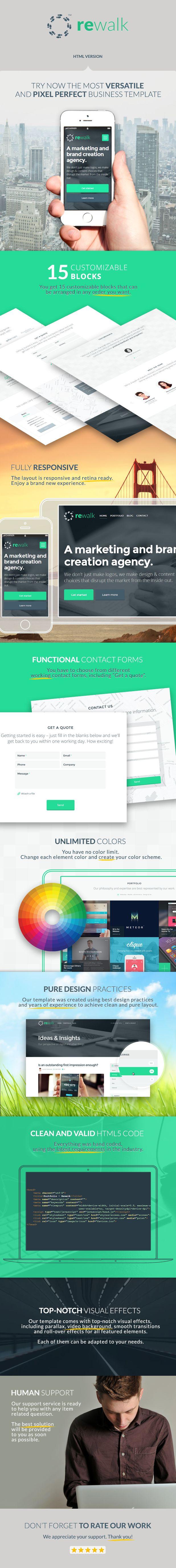 Site Templates - ReWalk - Responsive Business HTML Template | ThemeForest