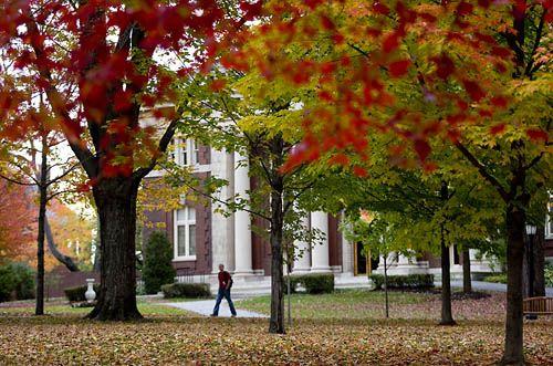 Bates College campus in Fall