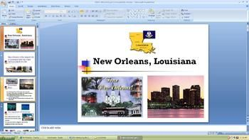 This presentation shares pictures and information about Louisiana facts on the following:  The Mississippi River, the Aquarium, Mardi Gras, Jackson Square, the Superdome, Bourbon Street, Plantations, Audobon Zoo, New Orleans foods, Cafe de Monde, St. Charles Avenue, etc.Use it for Social Studies or in Reading / ELA as non-fiction text.Enjoy!