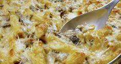 πένες φούρνου με κοτόπουλο και μανιτάρια - Pandespani.com