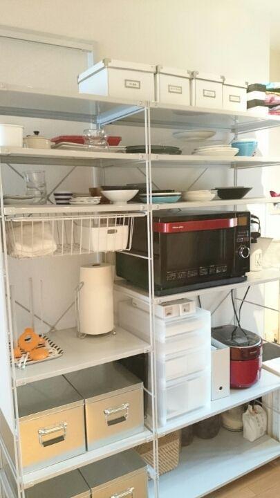 無印ユニットシェルフでキッチン収納 その1|RealHome