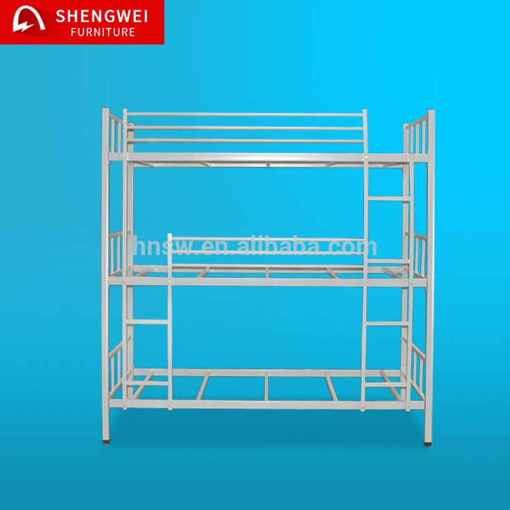China manufacturer supply hotsale high quality heavy duty 3 tier bunk bed steel bed