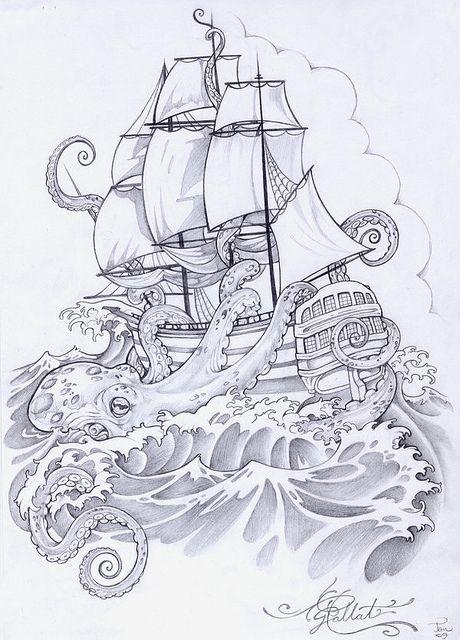 octopus ship by inkedideas, via Flickr