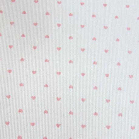 Pour le top :  LE COUPON DE 3 METRES imprimé petit coeur rose