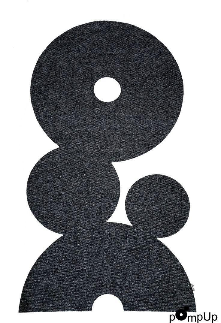 Matto pOmpUp Original M, suunnittelijat Maikku ja Hammi Mettinen. - Carpet pOmpUp Original M, design: Maikku and Hammi Mettinen