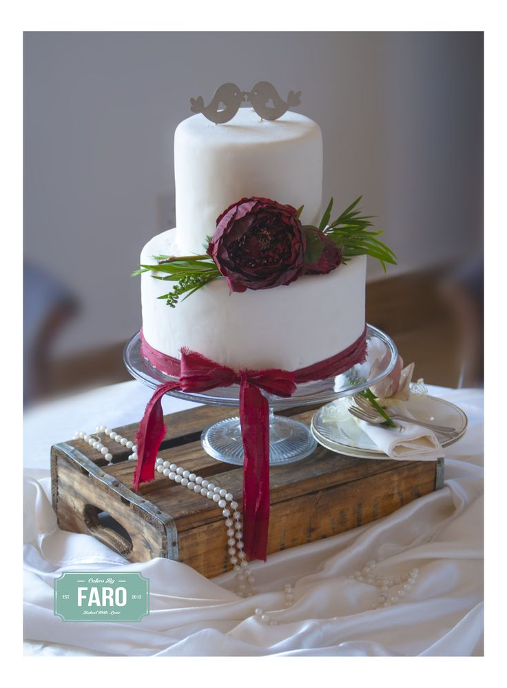 Boho Inspired Wedding Cake for a special couple!