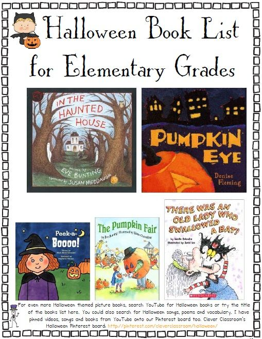 Halloween Book List