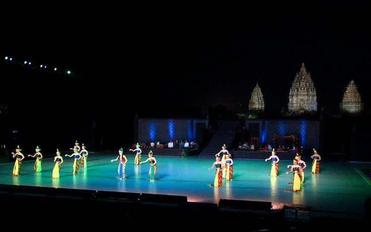 Watching the Ramayana Ballet at Prambanan Temple.
